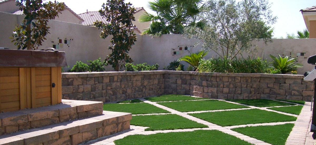 Landscape Retaining Walls Las Vegas and Henderson Nevada