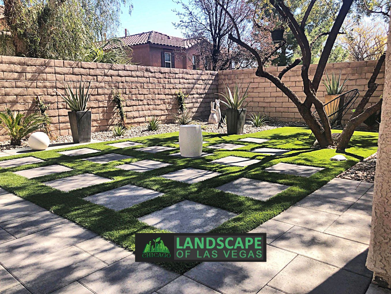 Las Vegas Landscape Redesign Project - Before & After  Photos